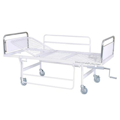 تخت بیمار یک شکن حفاظ دار بیمارستانی