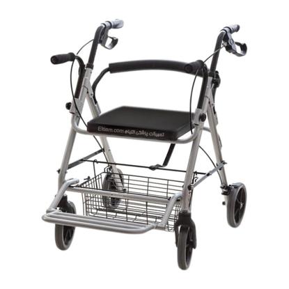 واکر چهار چرخ صندلی و جاپایی دار همپا