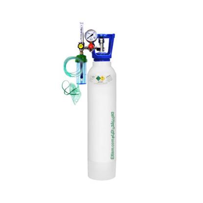 کپسول اکسیژن 5 لیتری با مانومتر طبی